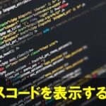 ワードプレスサイトにソースコードを表示させる方法