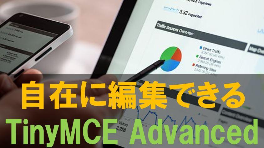 TinyMCE Advancedを使えば効率的に記事を作成できる!