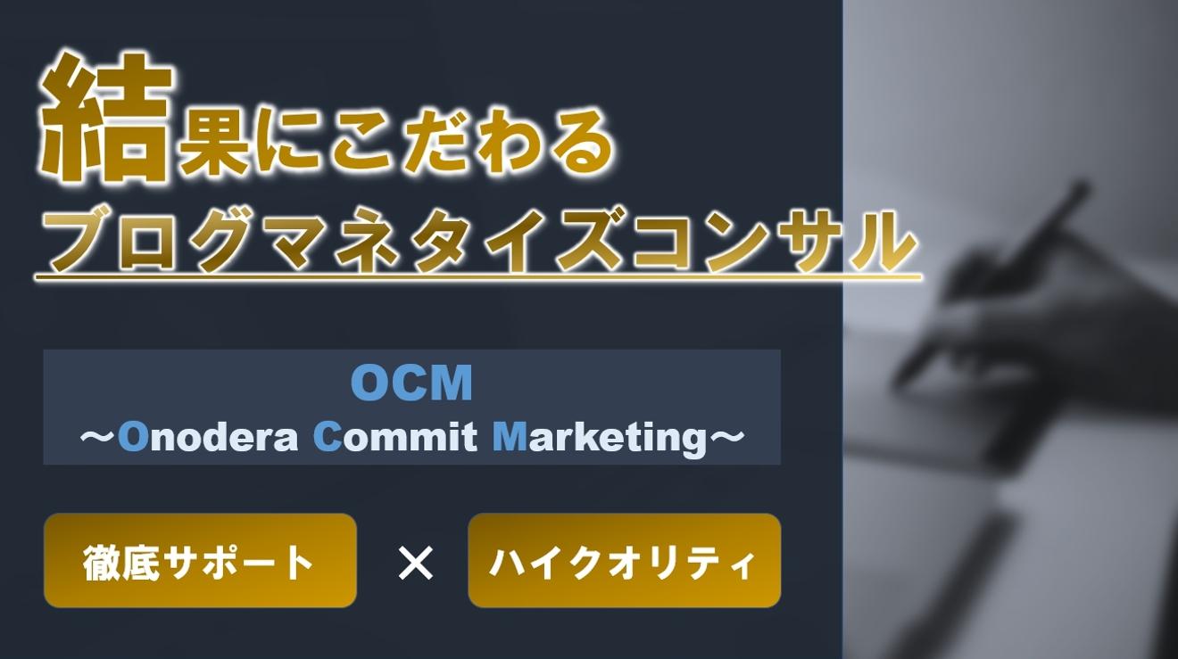 【セミナー視聴者特別案内】ブログマネタイズOCMコンサル
